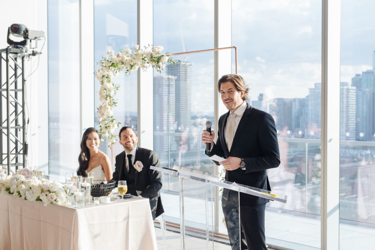 Who Should Give Speeches at Wedding Receptions?- AGI Studio | Toronto Wedding Photographers
