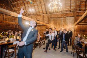 Bouquet and Garter Toss Wedding Photography
